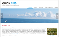 Quick.Cms screenshot - homepage