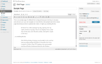 Wordpress screenshot - admin panel editing page